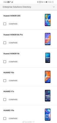 honor 20s Android Enterprise