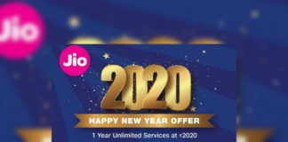 Jio 2020 Happy New Year offer