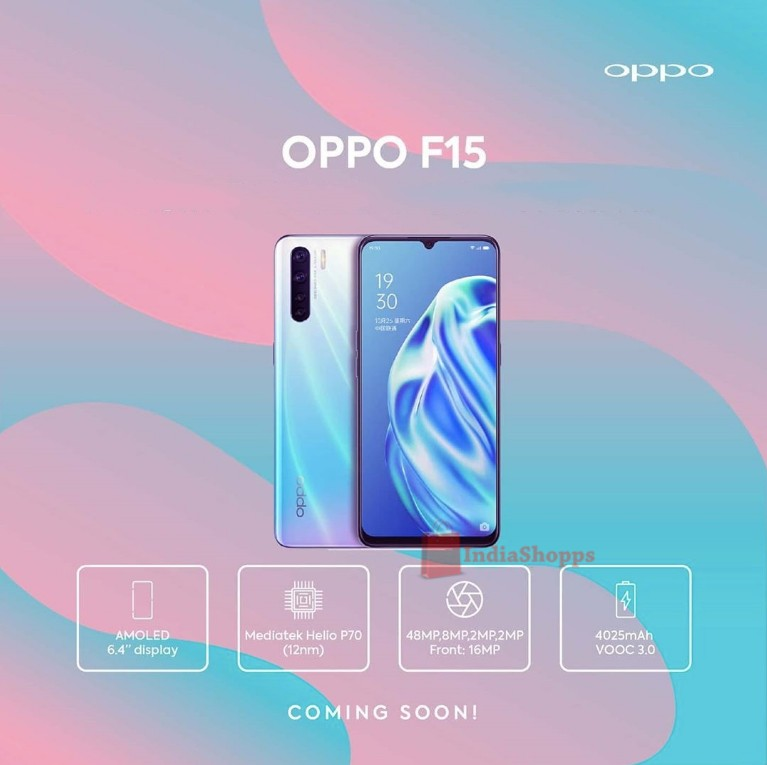 OPPO F15 Official Poster